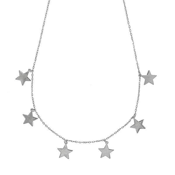 Lănțișor argint rodiat cu steluțe [0]
