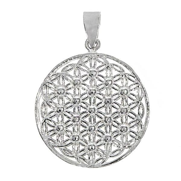 Pandantiv rotund din argint ce reprezintă floarea vieții [0]