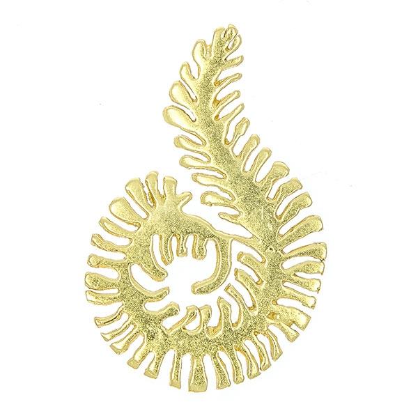 Pandantiv modern din argint aurit, model spirală [0]