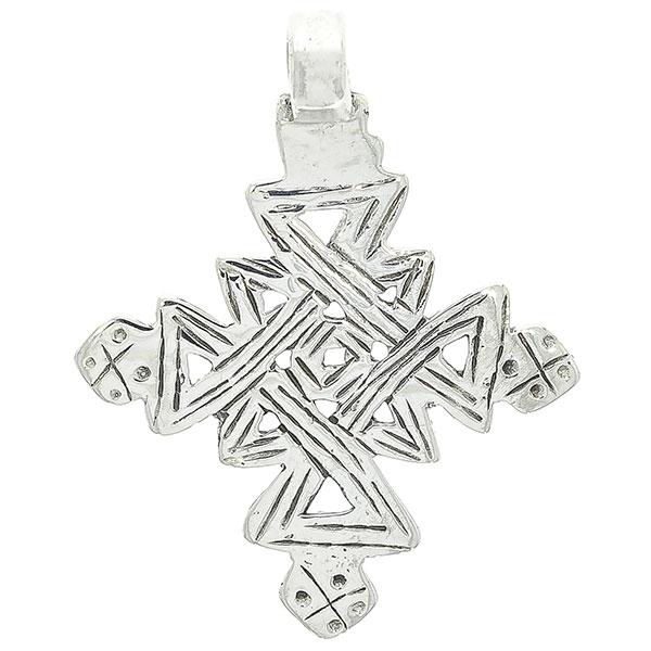 Pandantiv-amuletă din argint masiv tip cruce [0]
