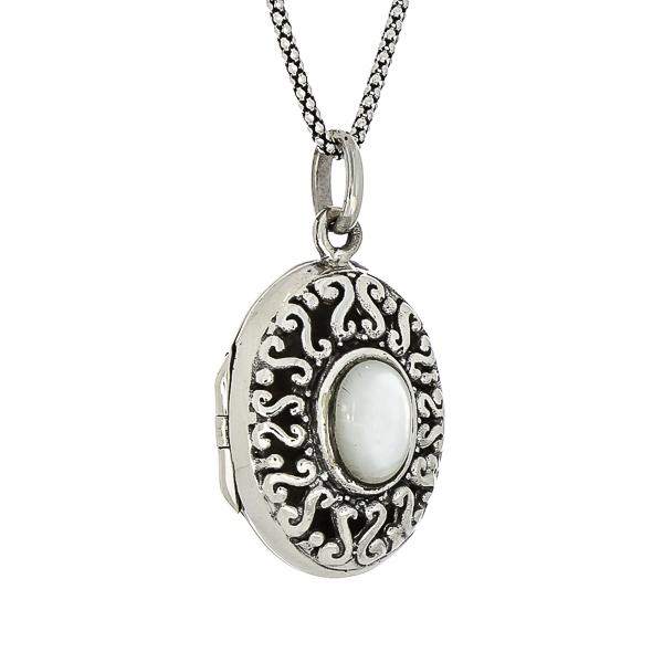 Pandantiv-casetă din argint decorat cu piatră de sidef [2]