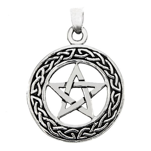 Pandantiv hexagramă din argint antichizat [0]