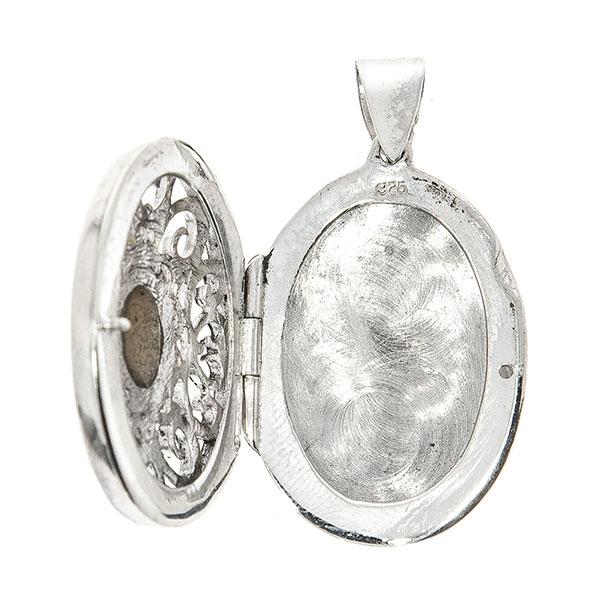 Pandantiv din argint antichizat cutiuță cu sidef [2]