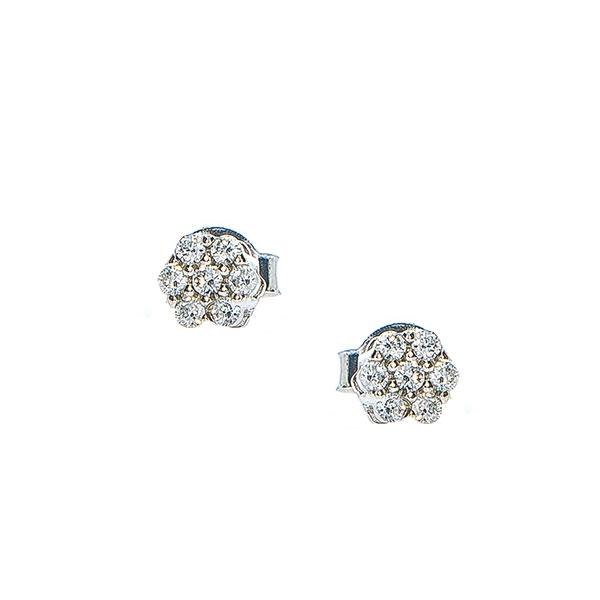 Set bijuterii argint pentru mirese cu cercei și colier cu zirconii [4]