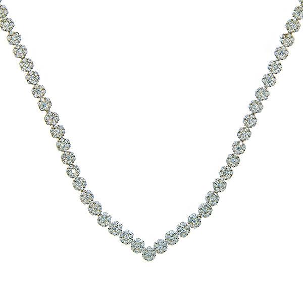 Set bijuterii argint elegant cu cercei și colier cu zirconii [2]