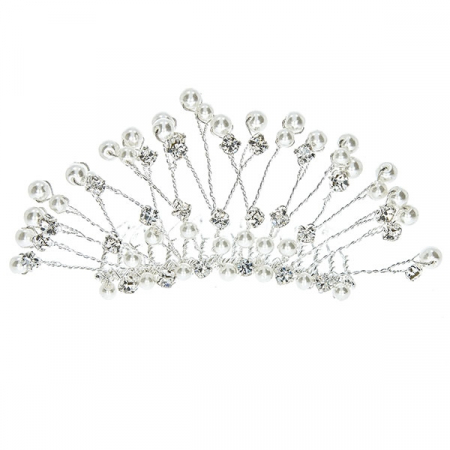 Pieptene de păr elegant, cu cristale, perle și ștrasuri [0]