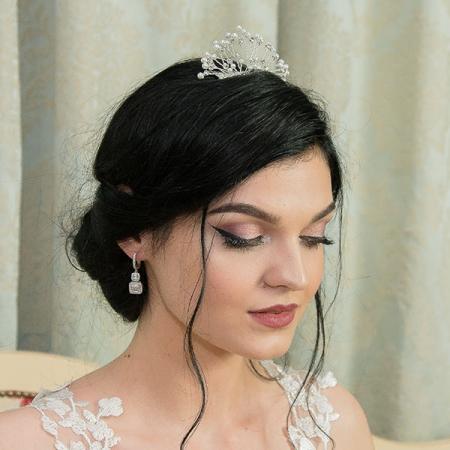 Pieptene de păr elegant, cu cristale, perle și ștrasuri [1]