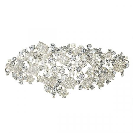Accesoriu pentru păr, de ocazie, cu perle și cristale [1]