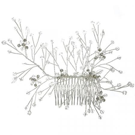 Pieptene de păr elegant, cu cristale și perle [0]