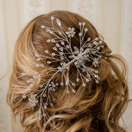 Pieptene de păr elegant, cu cristale și perle [3]