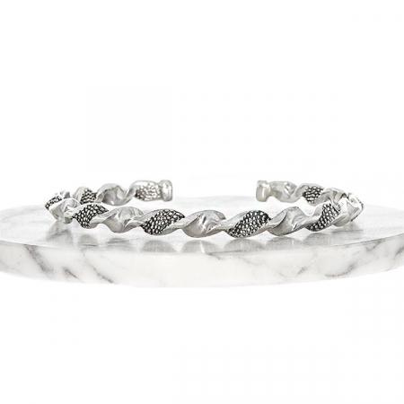 Bratara argint model spirala cu detalii antichizate [4]