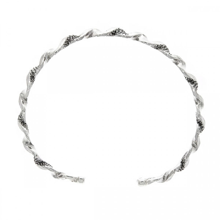 Bratara argint model spirala cu detalii antichizate [3]