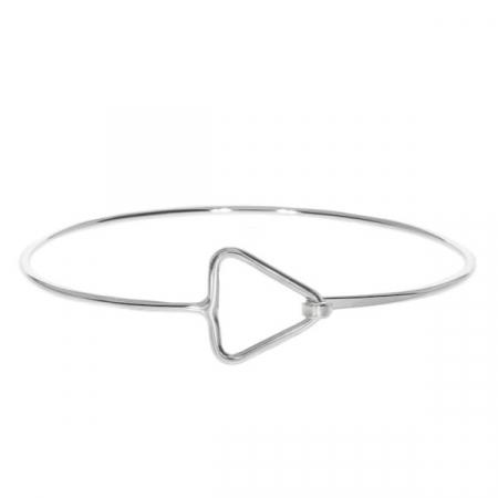 Bratara argint fixa cu model geometric triunghi [3]