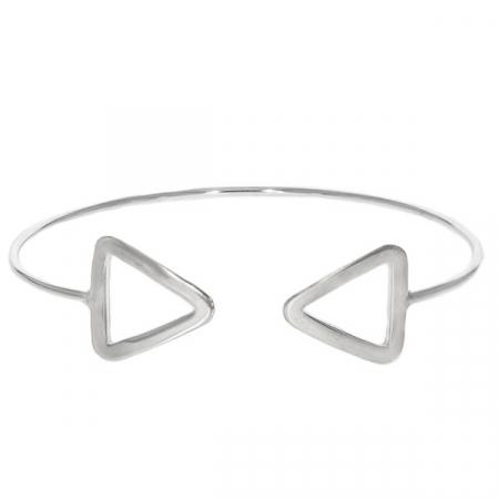 Bratara argint fixa model triunghiuri [1]