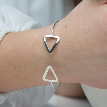Bratara argint fixa model triunghiuri [2]