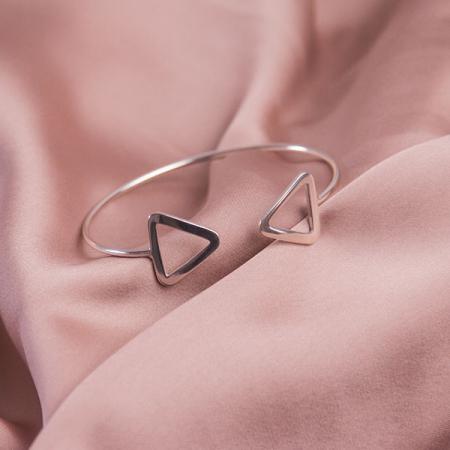 Bratara argint fixa model triunghiuri [4]