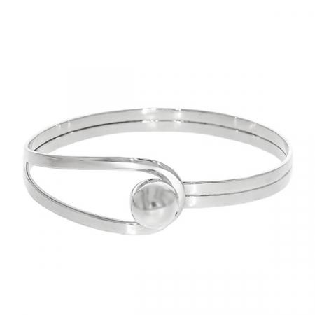 Bratara argint circulara cu bila si bucla [1]
