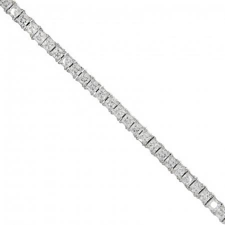 Brățară tennis din argint rodiat cu cristale dreptunghiulare [2]