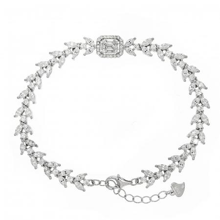 Brățară elegantă din argint rodiat cu zirconii [0]