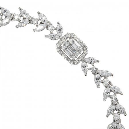Brățară elegantă din argint rodiat cu zirconii [2]