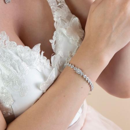 Brățară elegantă din argint rodiat cu zirconii [1]