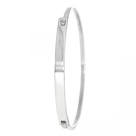 Brățară fixă, model rigid, din argint [4]