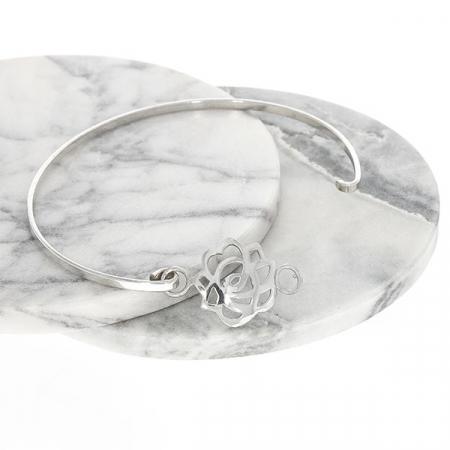 Brățară fixă din argint cu talisman [4]