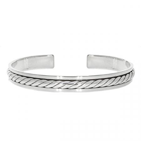 Brățară argint unisex semi-rigidă [0]