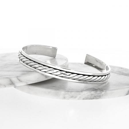 Brățară argint unisex semi-rigidă [4]