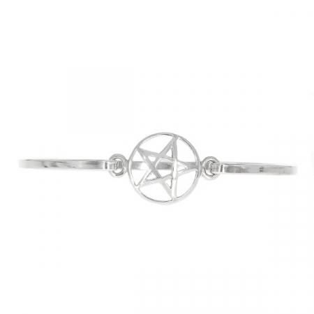 Brățară argint fixă cu talisman-pentagramă [0]