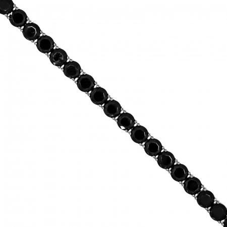 Brățară tip tennis din argint cu zirconii negre [2]