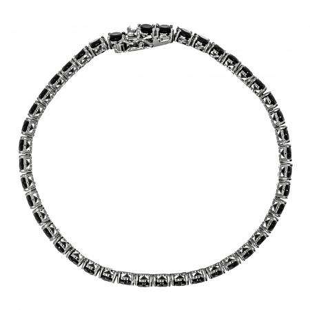 Brățară tip tennis din argint cu zirconii negre [4]