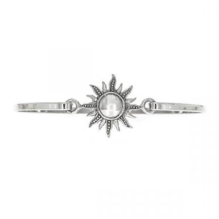 Bratara argint fixa cu medalion soare [0]
