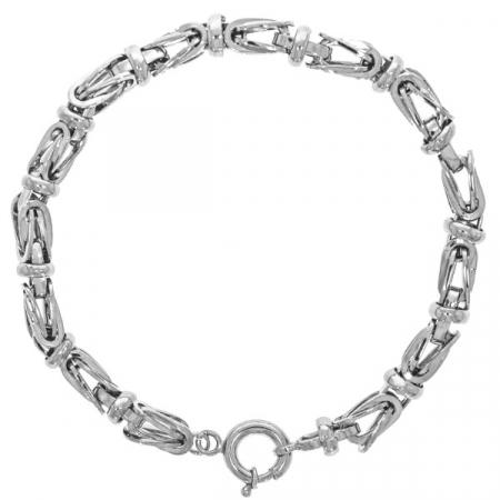 Brățară bărbătească din argint masiv cu model bizantin [1]