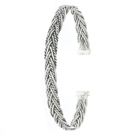 Bratara Argint model impletit antichizat [0]