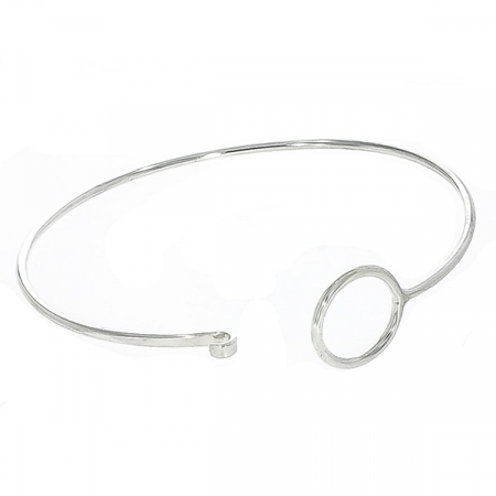 Bratara argint cu cerc, stil minimalist [2]