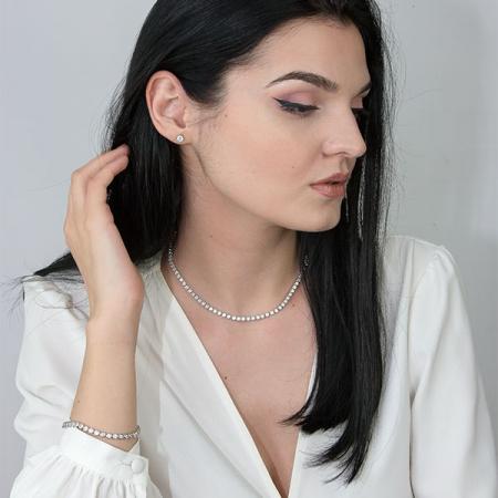 Bratara eleganta model tenis cu cristale [3]