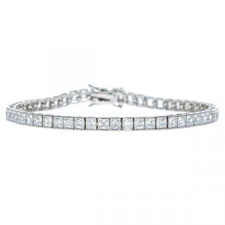 Bratara argint rodiat model tennis cu cristale [3]