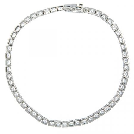 Bratara argint rodiat model tennis cu cristale [4]