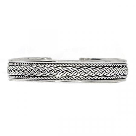 Bratara argint circulara model rasucit [0]