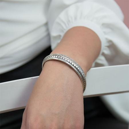 Bratara argint model impletit [1]