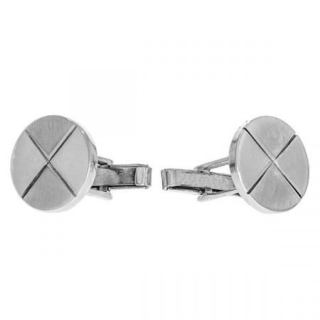 Butoni din argint rotunzi cu aspect mat [2]