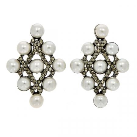 cercei-argint-antichizat-vintage-eleganti-romb-marcasite-perle-janette [0]