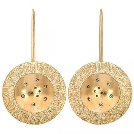 Cercei moderni eleganți din argint placat cu aur rose [2]