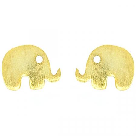 Cercei pe lob din argint aurit model elefanți [0]