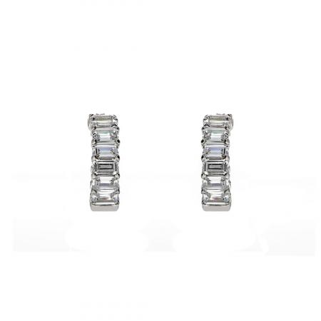 Cercei rotunzi,deschiși, din argint 925 rodiat decorați cu zirconii [0]