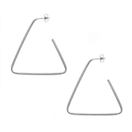 Cercei statement din argint în formă de triunghi deschis [0]