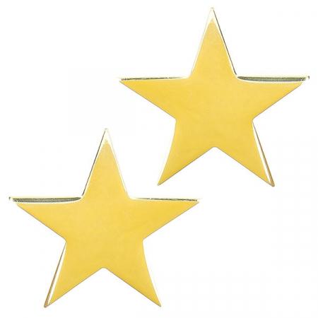 Cercei pe lob din argint placat cu aur model stele [0]