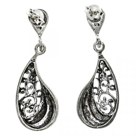 cercei-lungi-argint-antichizat-motive-florale-janette [3]
