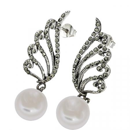 cercei-deosebiti-eleganti-lungi-argint-antichizat-aripi-marcasite-perle-janette [2]